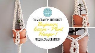 Macrame Plant Hanger Tutorial - Macrame Project -DIY Plant Hanger Tutorial