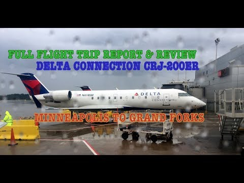 #52: DELTA CONNECTION FLIGHT REPORT | CRJ-200ER | MINNEAPOLIS TO GRAND FORKS