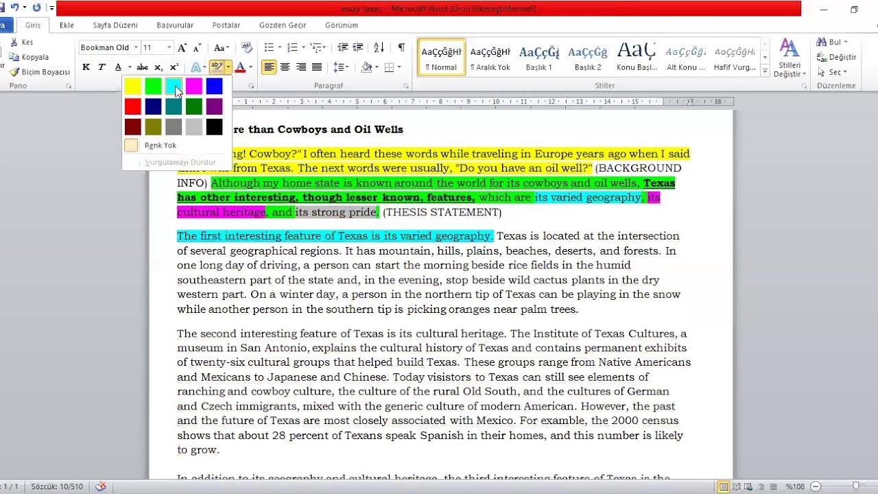 Essay writing frame ks3