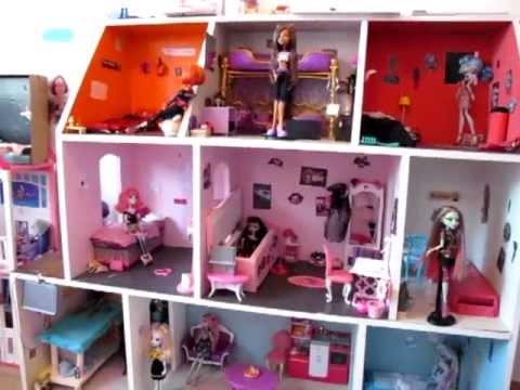 Maison monster high en bois 2013 lisa et ma va youtube - Decoration maison en bois ...