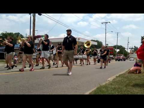 James A Garfield Band in parade