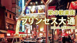 栄の歓楽街【プリンセス大通】2020.12. 名古屋区中区