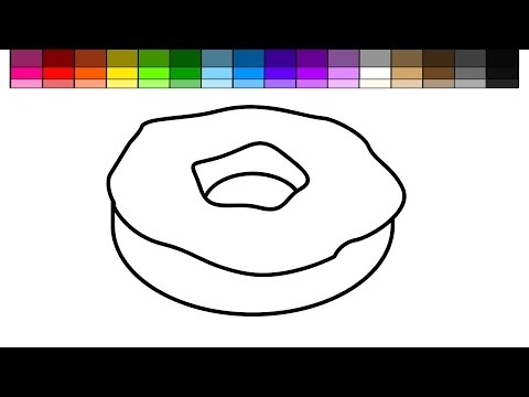 Learn Colors For Kids And Color Vanilla Donut With Sprinkles