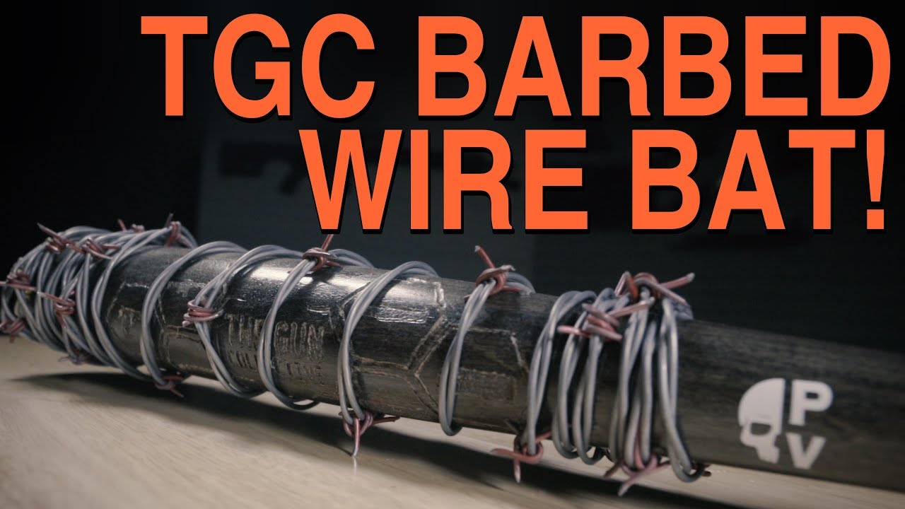 Baseball Bat Wrapped in BARBED WIRE! - TGC Unboxing! - YouTube