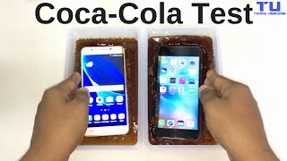 Samsung Galaxy J7 Prime vs. iPhone 6S Plus Coca Cola Freeze Test 12 Hours 30 Minutes!