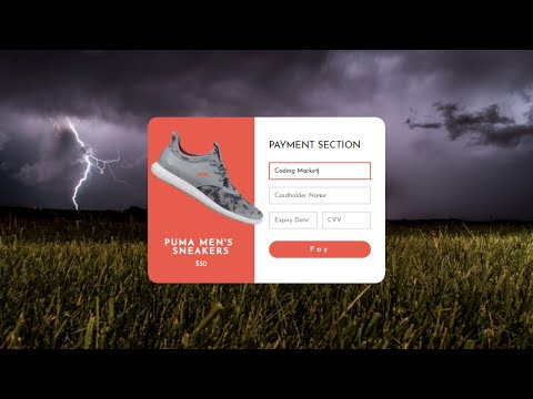 Payment Checkout Form Using HTML And CSS
