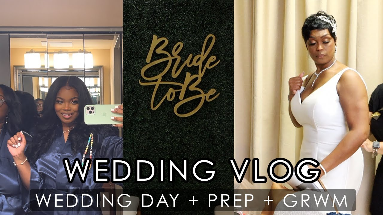 VLOG   WEDDING DAY + GET READY WITH ME FOR THE BIG DAY + NEW HAIR + WEDDING PREP!!