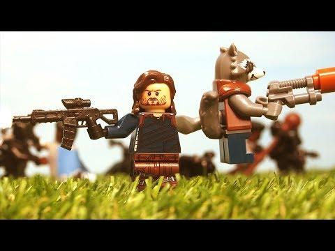 Lego Avengers Infinity War Bucky Rocket Raccoon Wakanda battle fight scene Lego Stop Motion