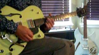 How to play Walk Out to Winter by Aztec Camera slow version Gretsch G6118T & Fender Super Chorus amp