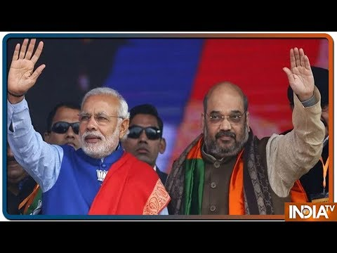 IndiaTV LIVE | Lok Sabha Election Results 2019 LIVE | Amit Shah Welcomes PM Modi At BJP Headquarters