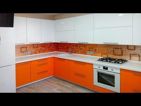 Как спрятать котел на современной кухне? Модная оранжевая кухня с котлом!
