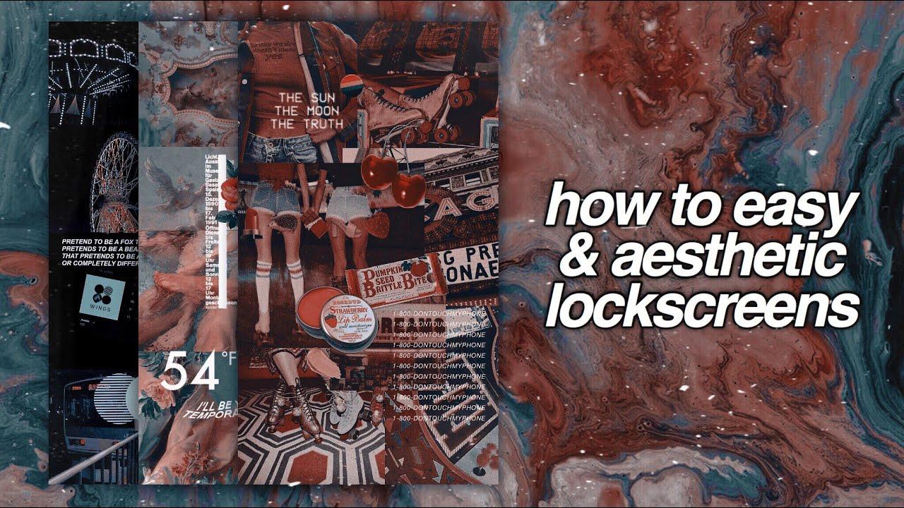 how to easy & aesthetic lockscreen — 𝒑𝒊𝒄𝒔𝒂𝒓𝒕