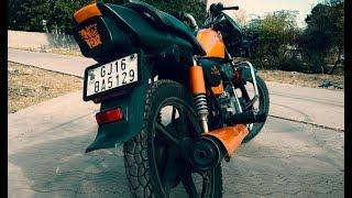 hero splendor pro bike modified with new broad tyre part 4 स्प्लेंडर मॉडिफाई