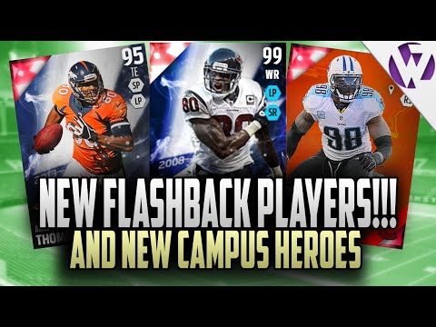 Madden 16 NEW FLASHBACK CARDS ft. FLASHBACK ANDRE JOHNSON 99 OVERALL + NEW CAMPUS HEROES