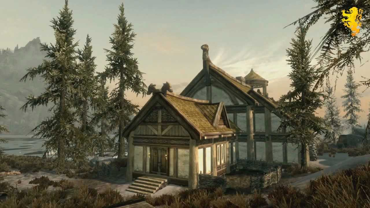 Skyrim Hearthfire Dlc Trailer Hearthfire Gameplay Build Your Own House Adopt Children