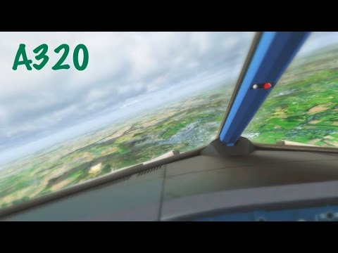 FSX British Airbus A320 Approach & Landing @ Luxembourg RWY 06 ( HD )