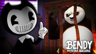 Minecraft BENDY AND THE INK MACHINE - BENDY HAS KIDNAPPED KUNG FU PANDA & THREATENED TO KILL HIM!!