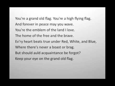 You're A Grand Old Flag Lyrics - Kid Song Lyrics ...
