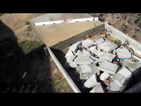 Заливка бетона под машину