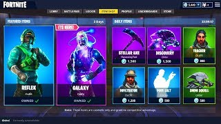 the GALAXY SKIN in the Fortnite ITEM SHOP..