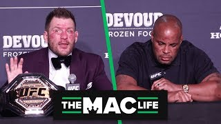 Daniel Cormier and Stipe Miocic react to UFC 241 Main Event (Presser Highlights)