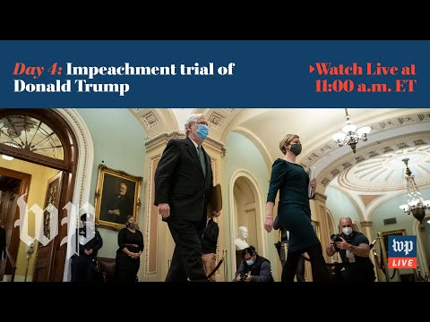 WATCH LIVE | Fourth day of Trump's impeachment trial