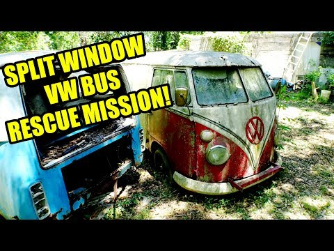 VW Bus Rescue with the 350Z Tow Truck! Soon to be VW BUS RESURRECTION!
