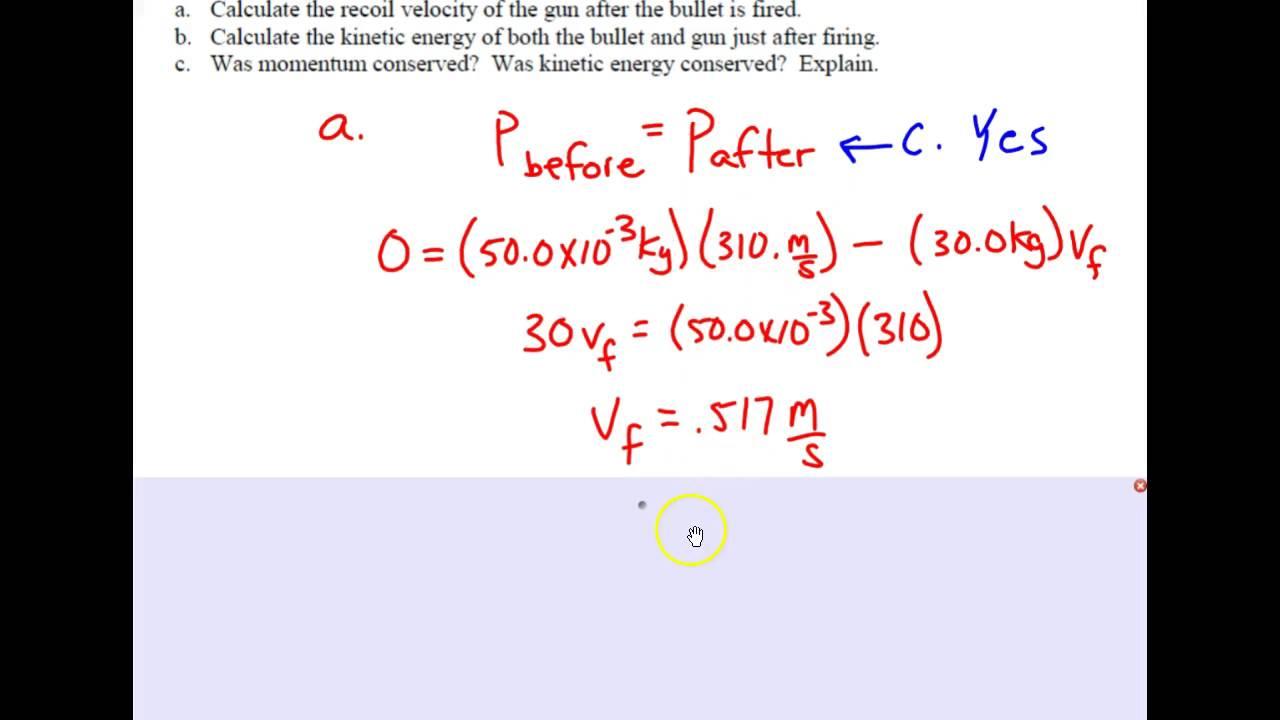 Regents Physics Momentum Problem Set 19 Youtube
