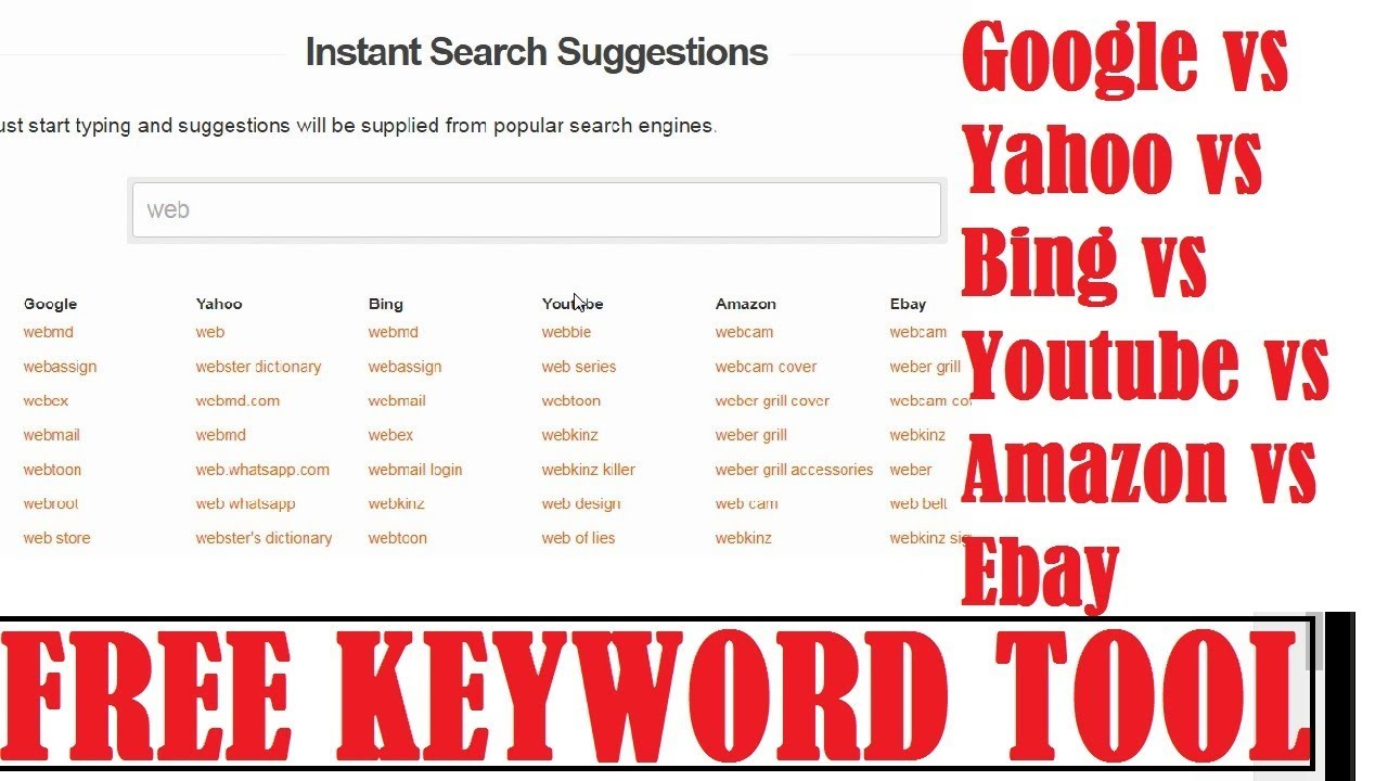 Free Keyword Search Suggestion Tool - Find HOT Trending Niches!