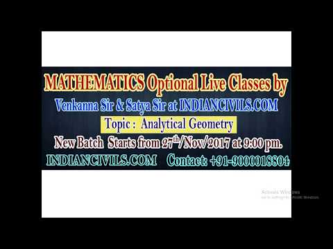 New Batch Starts from 27th November for Mathematics Optional