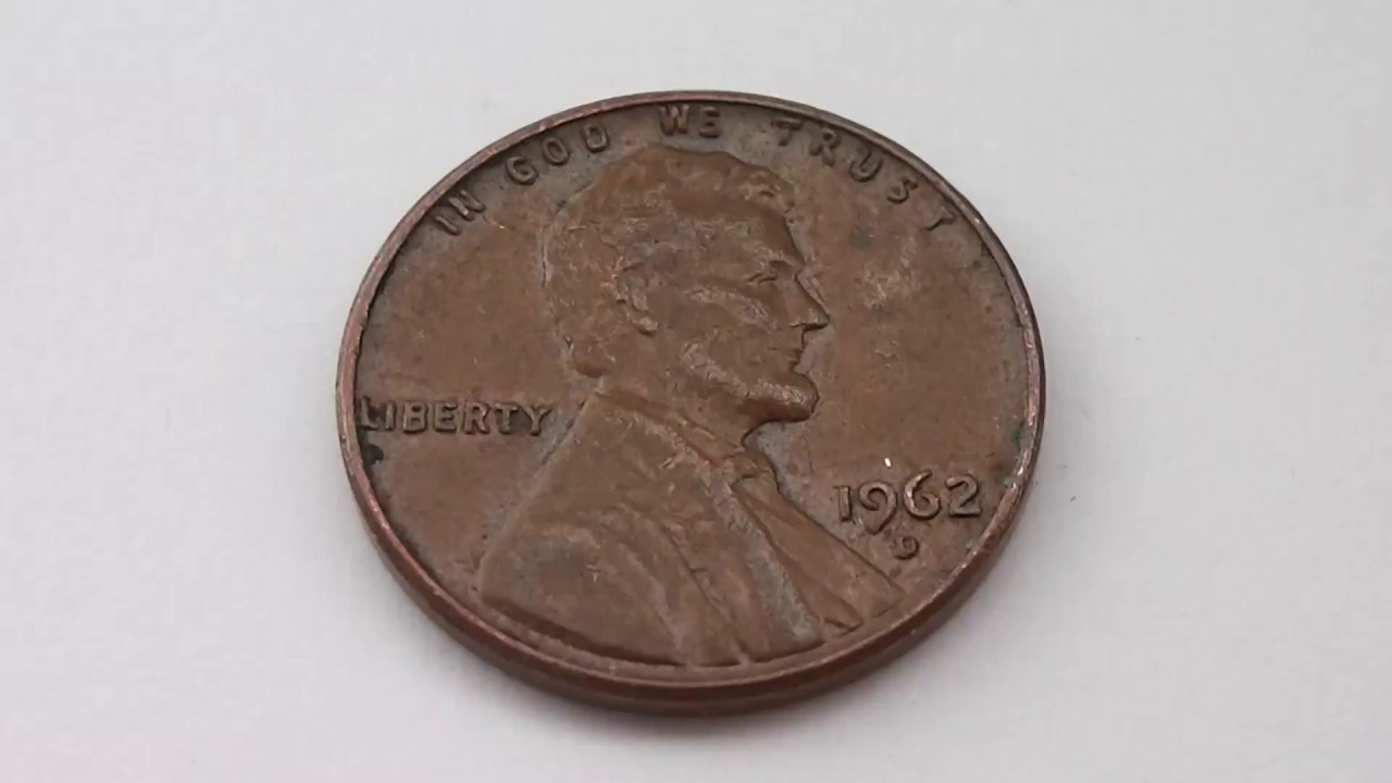 1 Cent Usa 1962 D Lincoln Penny Coin