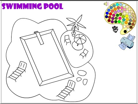 swimming pool coloring pages Swimming Pool Coloring Pages For Kids   Swimming Pool Coloring  swimming pool coloring pages