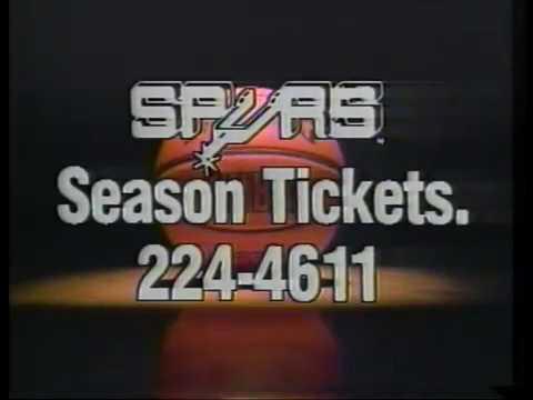 San Antonio Spurs Season Tickets Ad - 1986