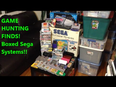 GAME HUNTING FINDS! Boxed Sega Systems!! | Scottsquatch