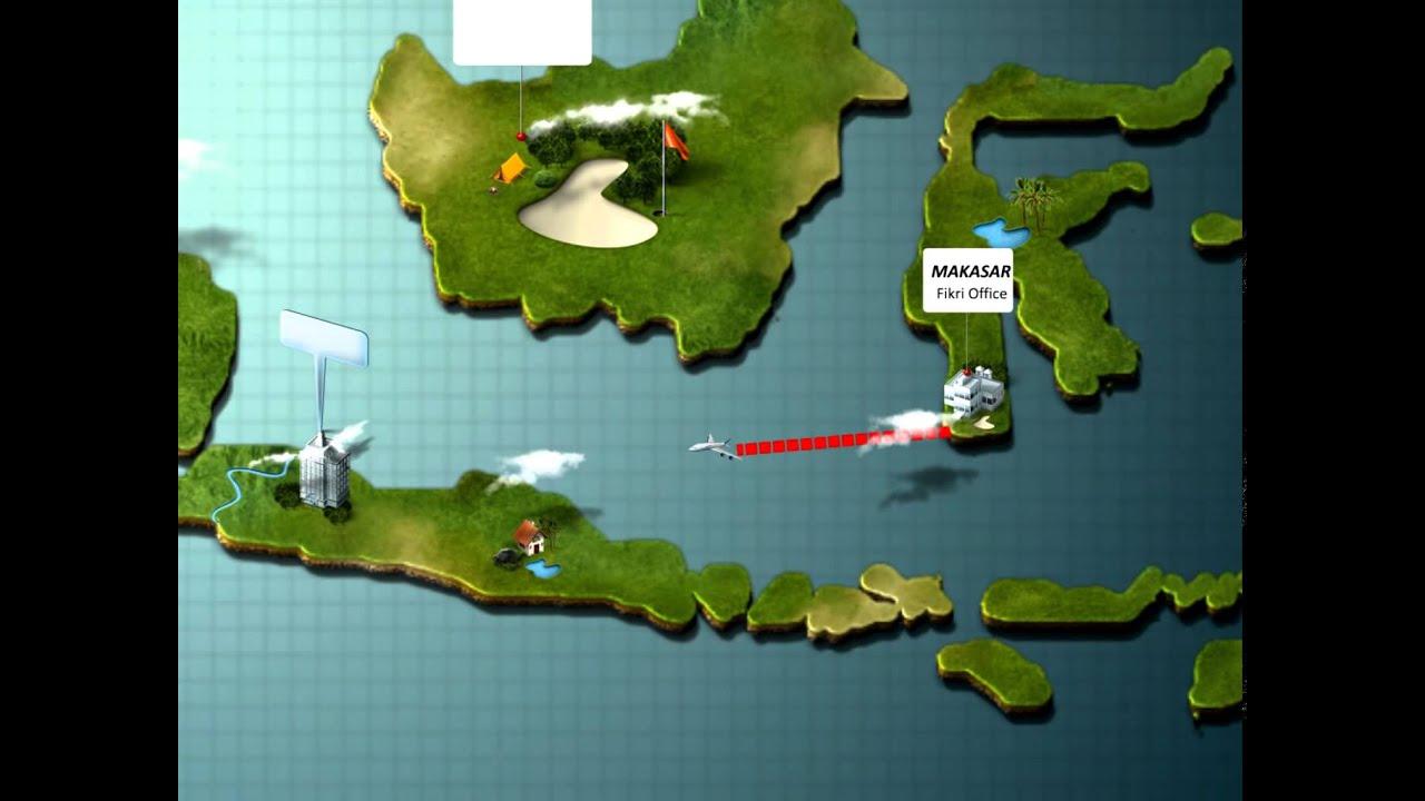 Effects - Flight Map Animation 3d Generator