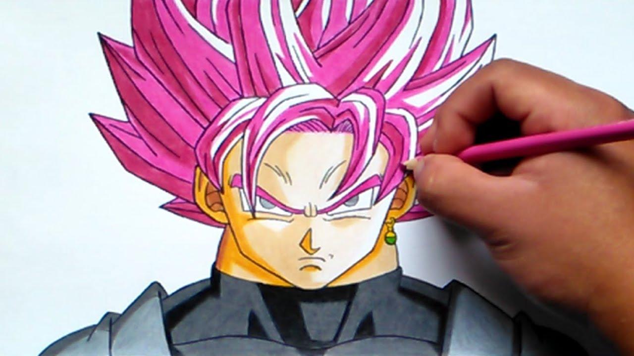 Cómo Dibujar A Goku Black Ssj Rose How To Draw Goku Black Ssj Pink