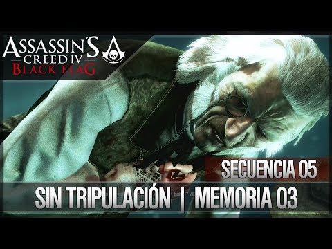 Assassin's Creed 4 Black Flag | Walkthrough | Secuencia 5 | Sin tripulación | 3 | 100%
