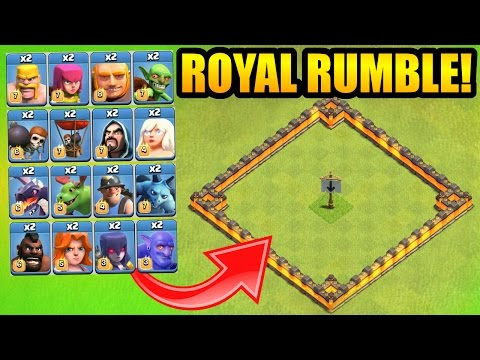 """A MUST WATCH"" CLASH OF CLANS ROYAL RUMBLE!!"