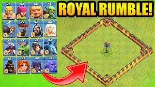 """""""A MUST WATCH"""" CLASH OF CLANS ROYAL RUMBLE!!"""