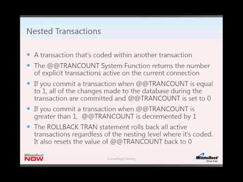 Transactions and Locking Sneak Peek by Mark Dunn