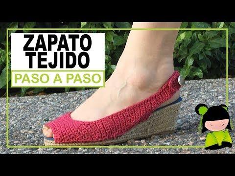 Paso O Como Youtube Un Tejer Zapato De Mujer Crochet A qvHw86H