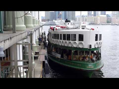 hong kong star ferry ride - day & night
