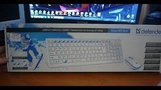 Клавиатура и мышь беспроводная Defender Skyline 895