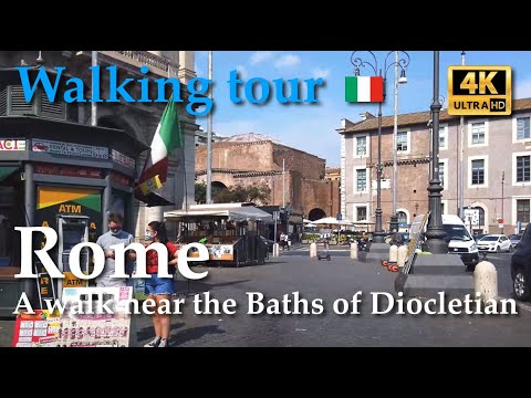 Rome, Italy【Walking Tour】Baths of Diocletian | R.XVI / R.XVII / R.XVIII - [9/10] - 4k