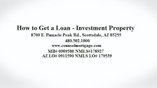How to Get a Loan for an Investment Property | Counsel Mortgage Group, LLC