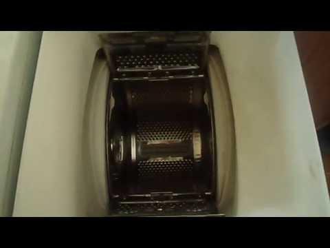 Washing machine ZANUSSI T834V test run (spin) 850 rpm