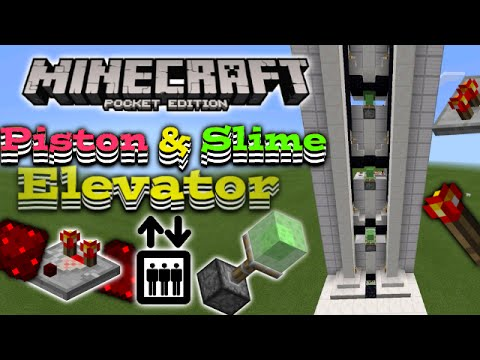 Piston Elevator In Mcpe Mcpe Redstone Slime Block