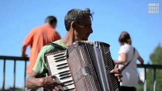 Street Accordionist from Romania in Paris, France (HD)