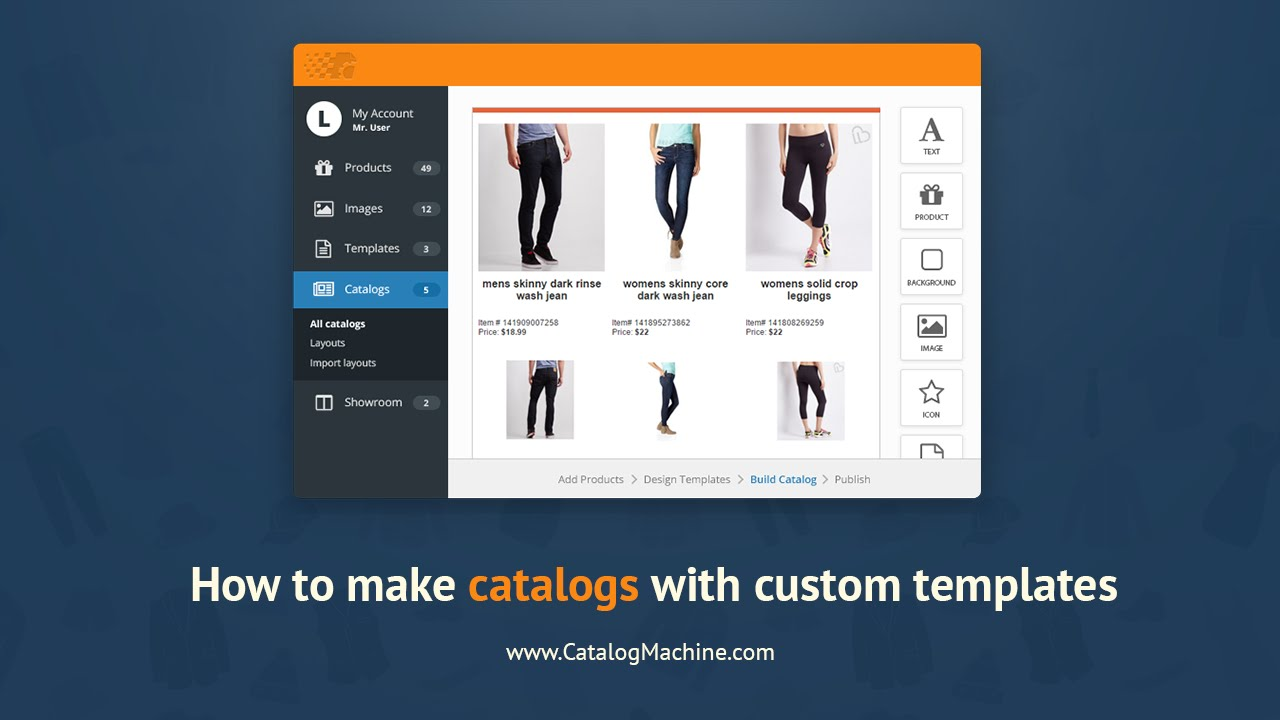 how to make a catalog