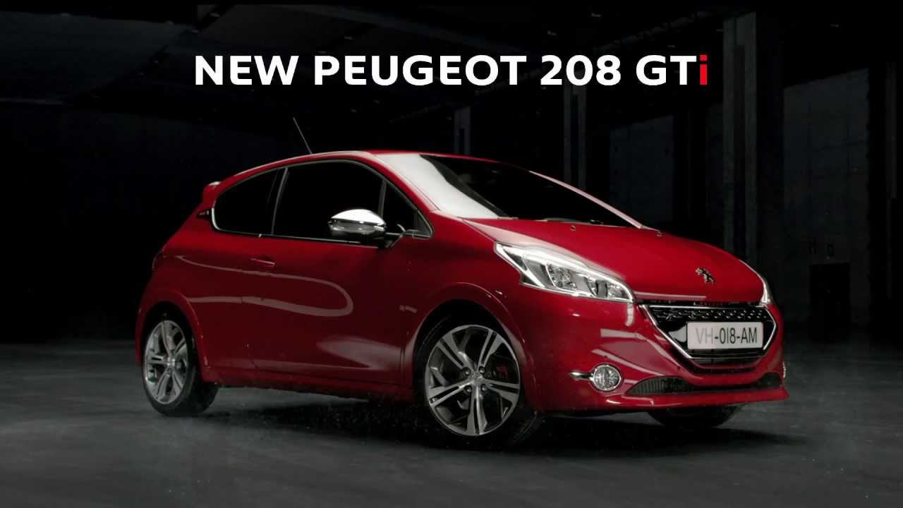 publicit peugeot 208 gti version internationale 45s. Black Bedroom Furniture Sets. Home Design Ideas